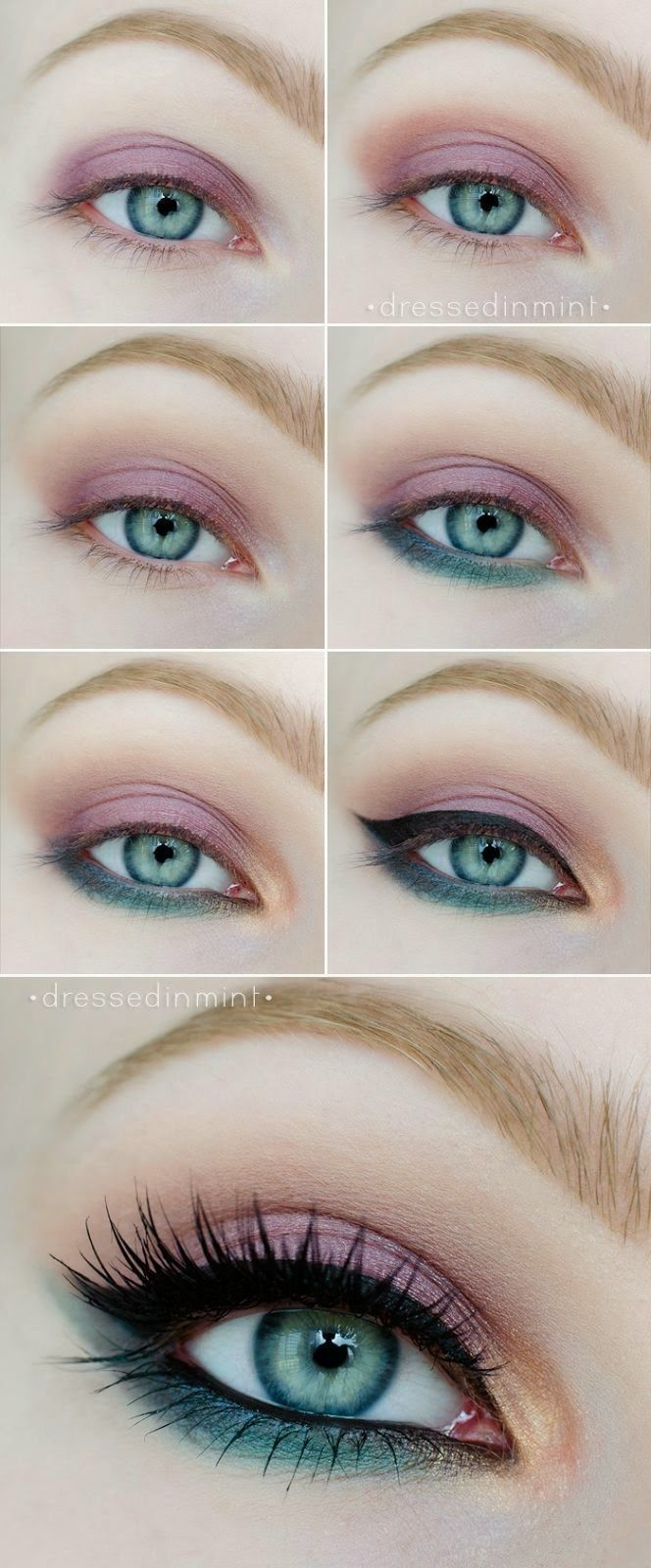 Purple & Teal Makeup | 7 Spring Makeup Looks To Inspire You, check it out at mak...