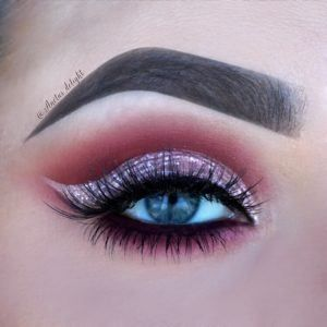 Rose Cut Crease Makeup Tutorial by Aneta. Makeup Geek Eyeshadow in Cocoa Bear, S...