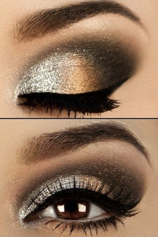 Smoky Bronze Eye Makeup Idea