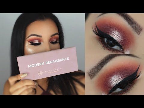 Summer Halo Eye Makeup Tutorial   ABH Modern Renaissance Palette - YouTube