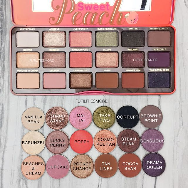 SWEET PEACH PALETTE DUPES WITH MAKEUP GEEK EYESHADOWS I Futilities And More