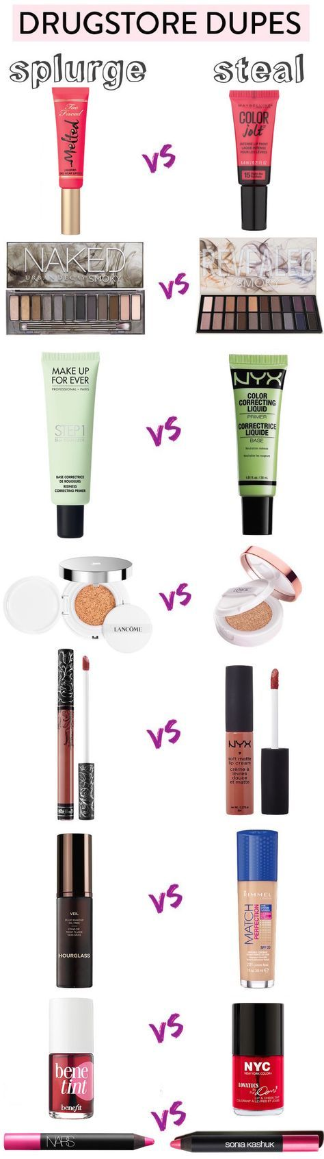 The ultimate list of best drugstore dupes, most under $10! Get the high-end look...