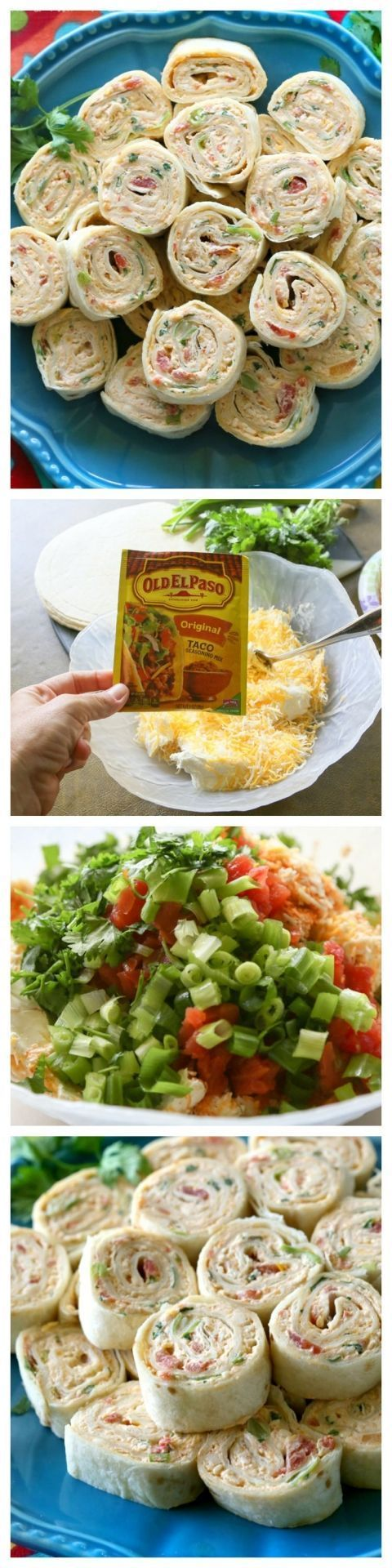 These Chicken Enchilada Roll Ups are a great appetizer for parties! Easy to make...