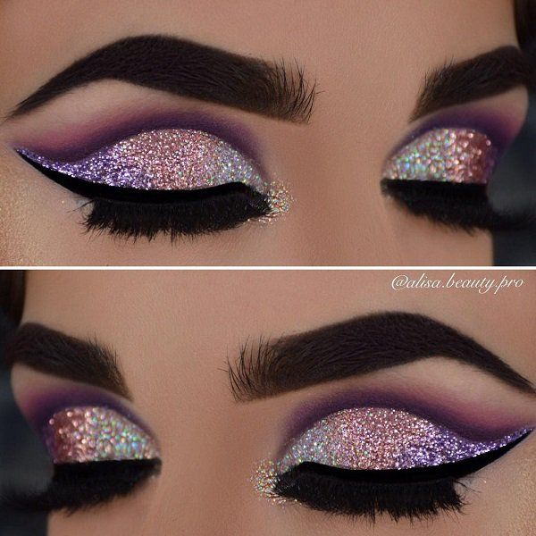 This make-up would fit in with a long dress to land in a similar shades for an o...