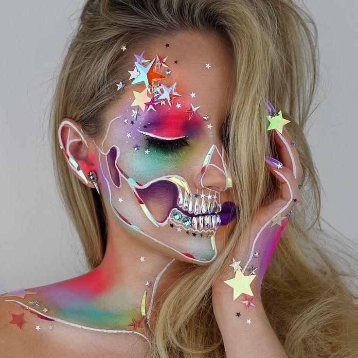 "Vanessa Davis, ""The Skulltress,"" uses her artistic face paint skills to crea..."