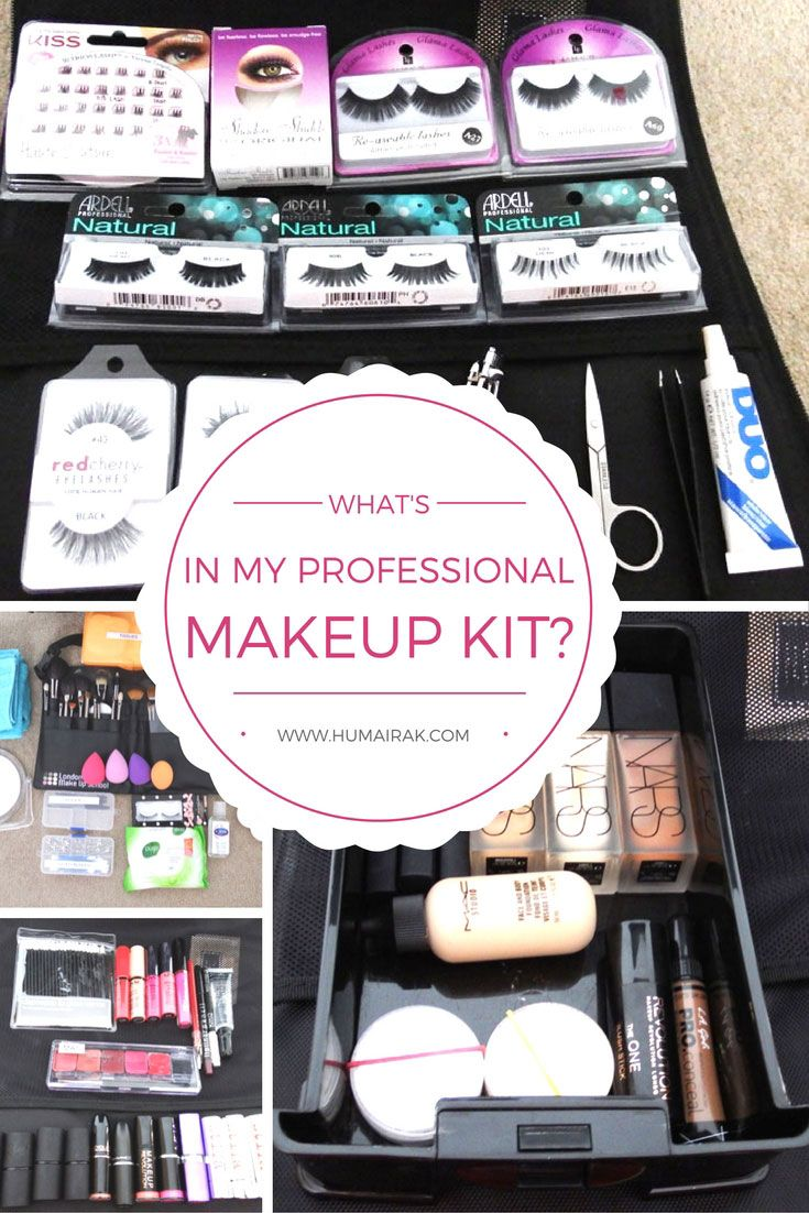 What's In My Professional Makeup Kit? All the things a professional beginner mak...