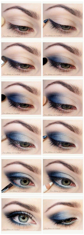 www.makeupmacosme... Blues Eyeshadow tutorial [ Site's in Polish.]