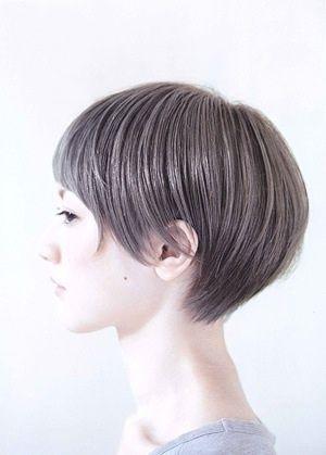 grayish hair