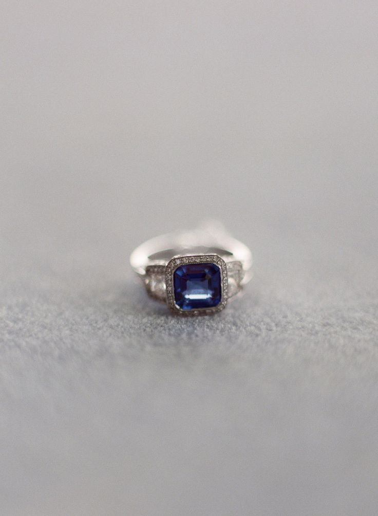 Sapphire Engagement Rings To Channel Your Inner Kate: www.stylemepretty...