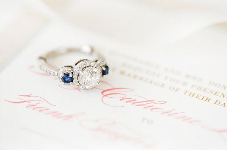 Sapphire Engagement Rings to Channel Your Inner Princess Kate: www.stylemepretty...