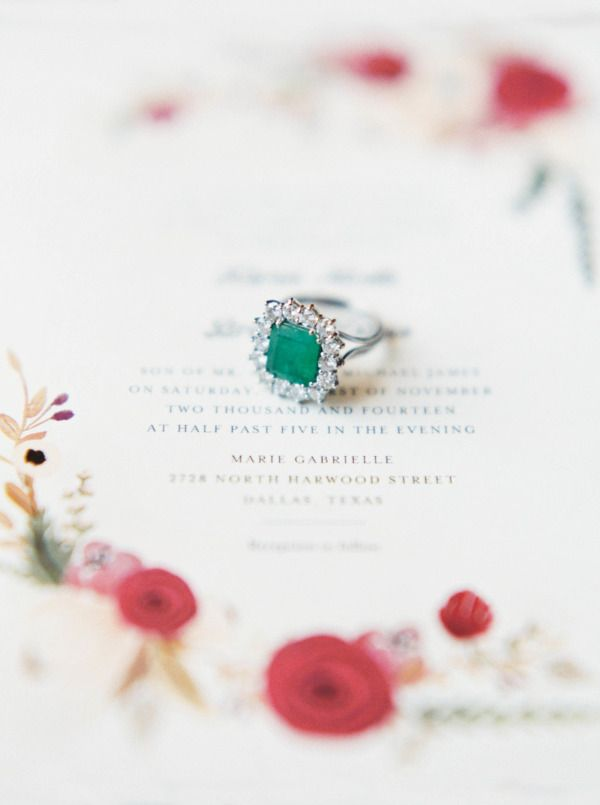 Emerald: www.stylemepretty...