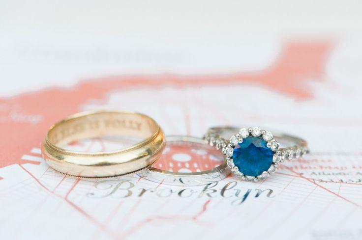 Blue sapphire: www.stylemepretty...