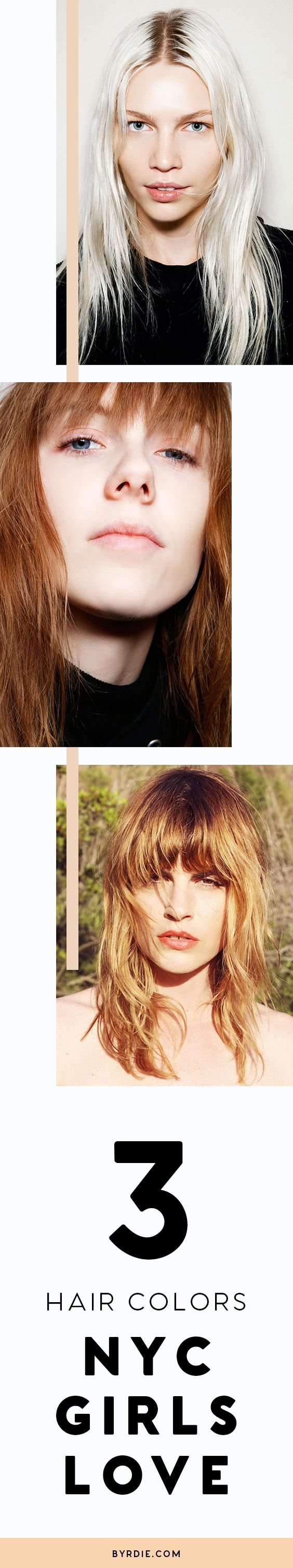 3 trending hair colors that NYC girls love