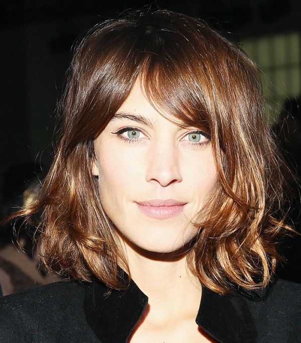 Alexa Chung's loosely tousled lob is so cool
