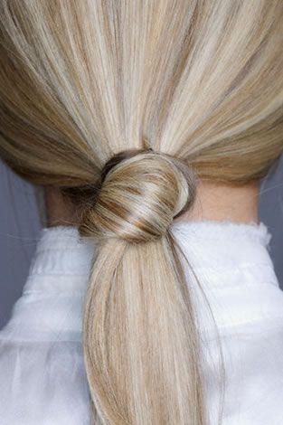 chic pony knot