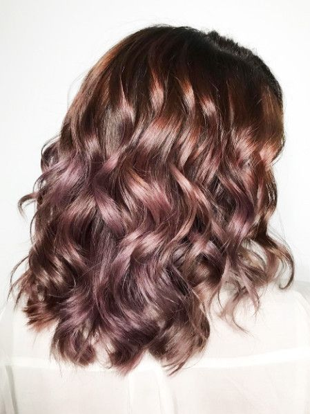 Chocolate mauve is the new hair trend that allows you to go rose gold without dy...