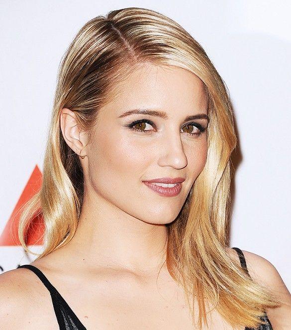 Diana Agron's shiny blonde lob