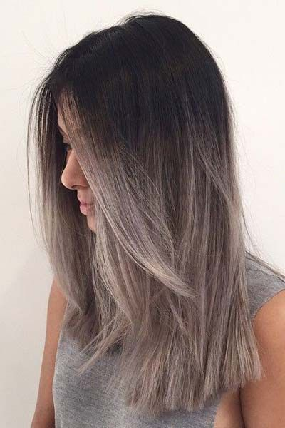 Obsessed with this grey ombré blunt chop