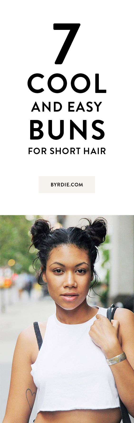 The best buns for short hair