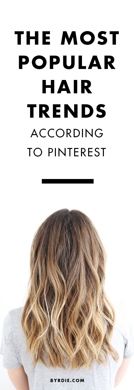 The most popular hair trends on Pinterest