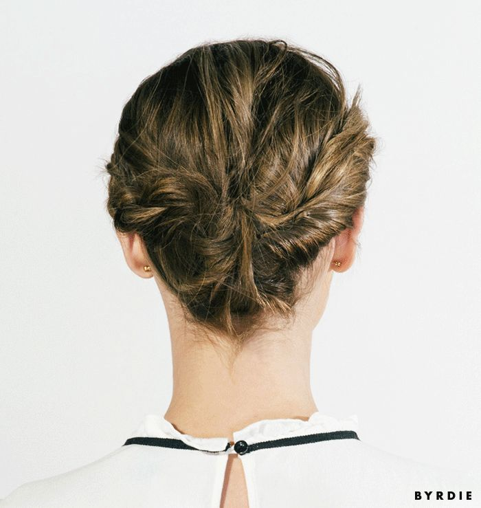 The perfect braided updo for short hair