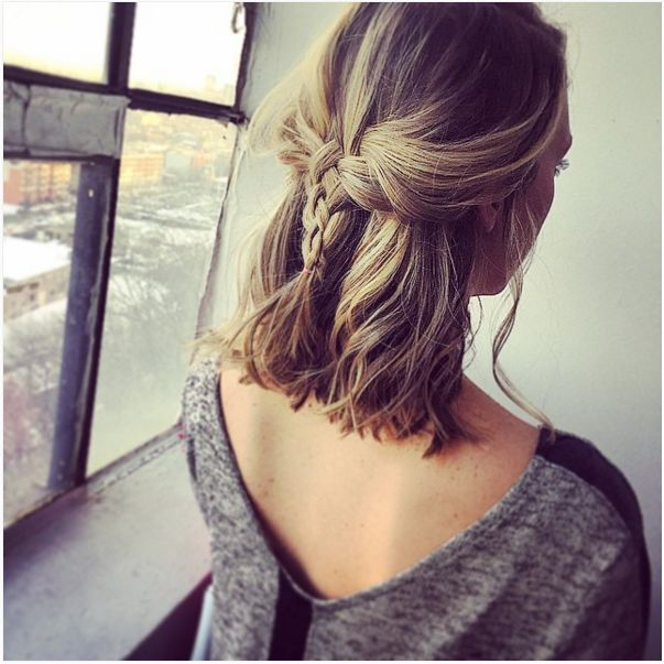 The perfect braid for a short hairstyle