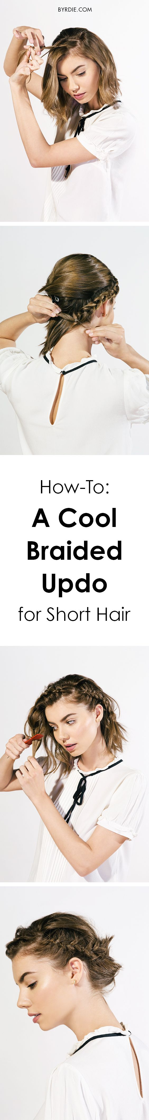 The perfect updo for short hair