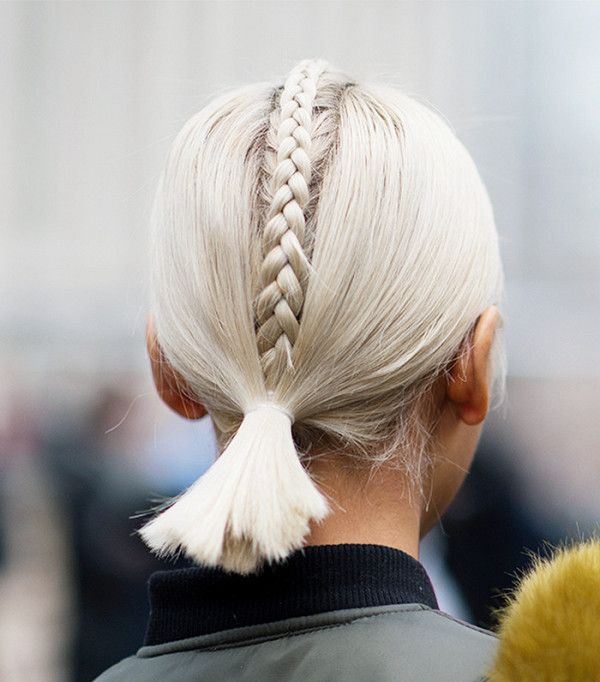 The plaited ponytail