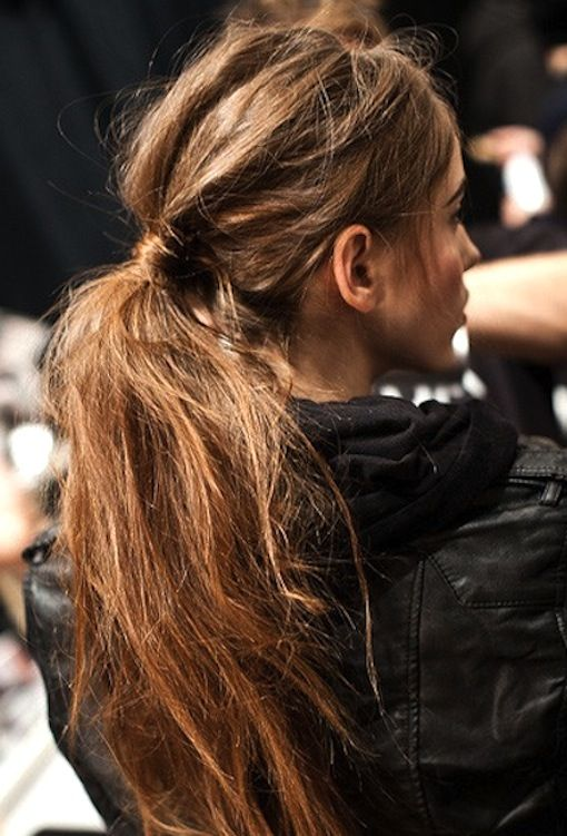 weekend hair: THE TEXTURED PONYTAIL