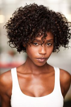 Work with the beautiful texture you have!  Like this Naturally Curly beauty.  eS...