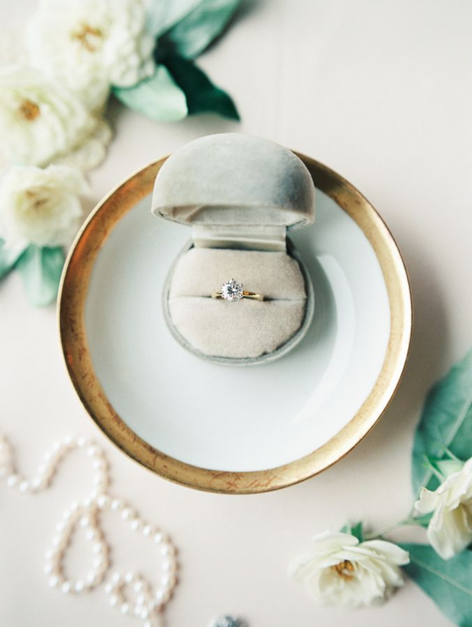 Beautifully styled engagement ring: www.stylemepretty...   Photography: Marcie M...