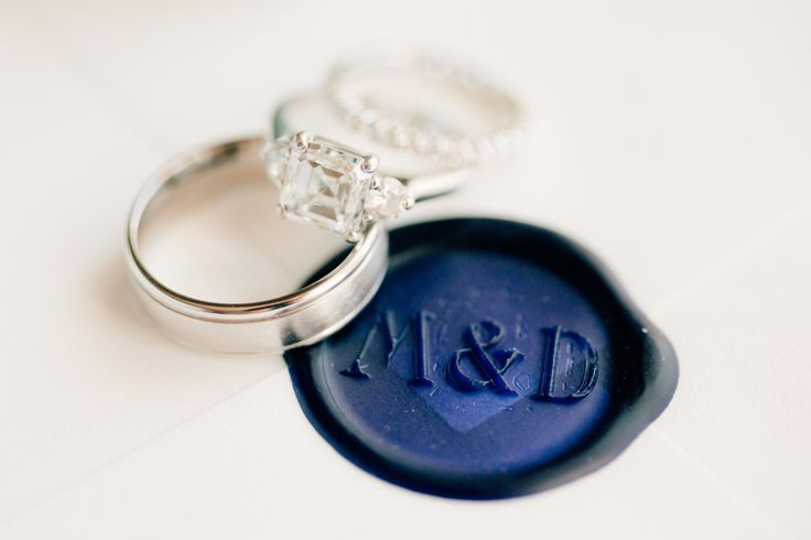 Classic three stone engagement ring: www.stylemepretty... | Photography:  Mike C...