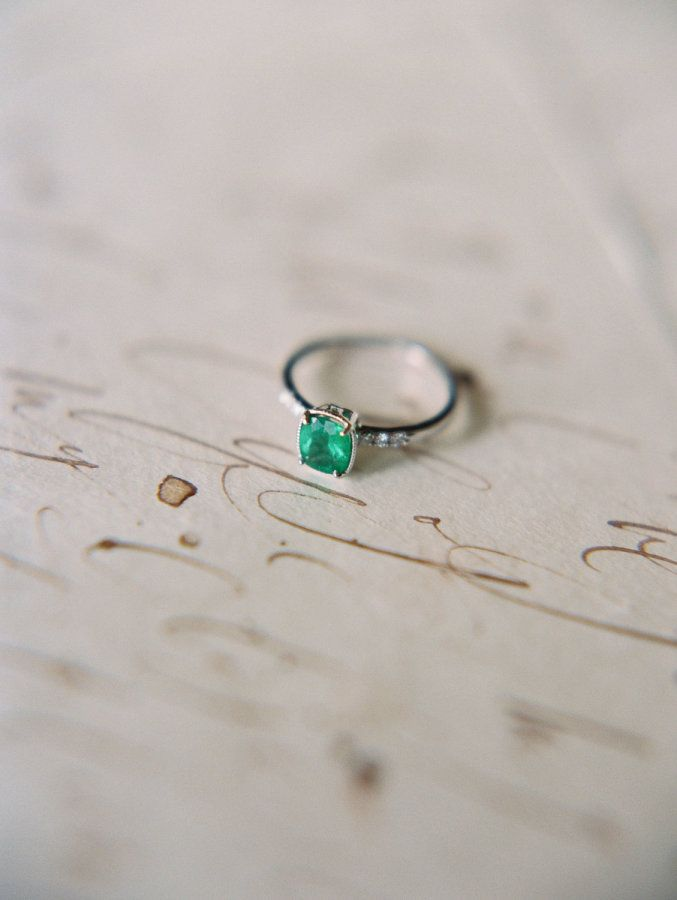 Emerald green engagement ring: www.stylemepretty... | Photography: Apryl Ann - w...
