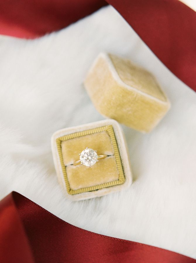 Gorgeous round solitaire engagement ring: www.stylemepretty... | Photography: Pe...