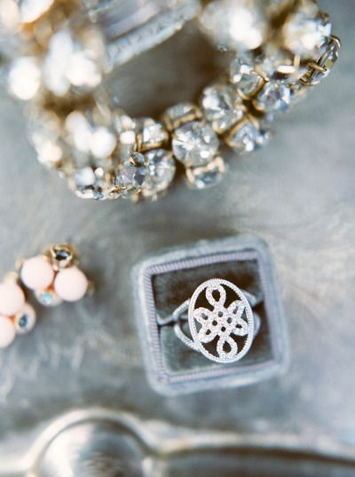 Now this is one unique engagement ring: www.stylemepretty... | Photography: Mari...