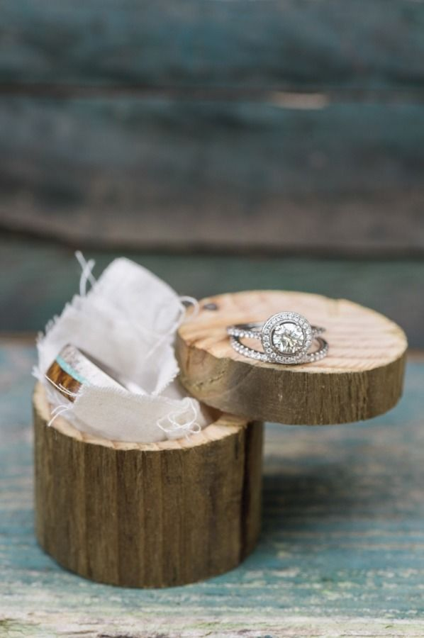 Rustic ring box: www.stylemepretty... | Photography: Julie Paisley - juliepaisle...