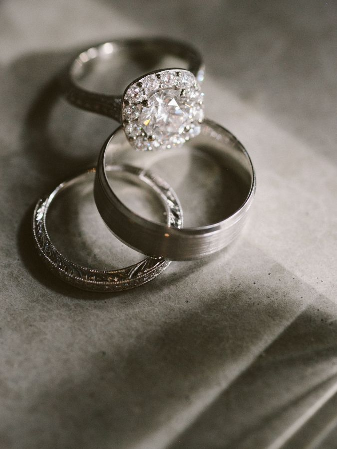 Stunning cushion cut halo engagement ring: www.stylemepretty... | Photography: J...