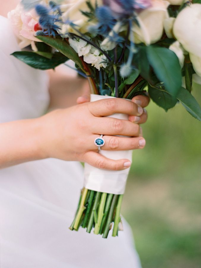 Stunning sapphire engagement ring: www.stylemepretty... | Photography: Arielle D...