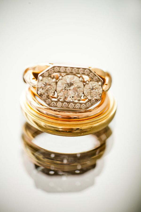 Such a unique ring: www.stylemepretty...