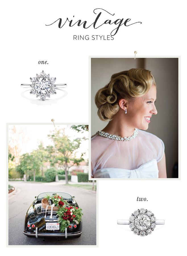 Vintage engagement ring styles: www.stylemepretty...