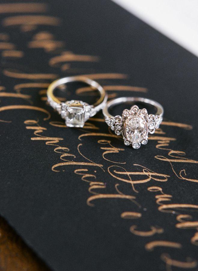 Vintage inspired Trumpet & Horn engagement rings: www.stylemepretty... | Photogr...