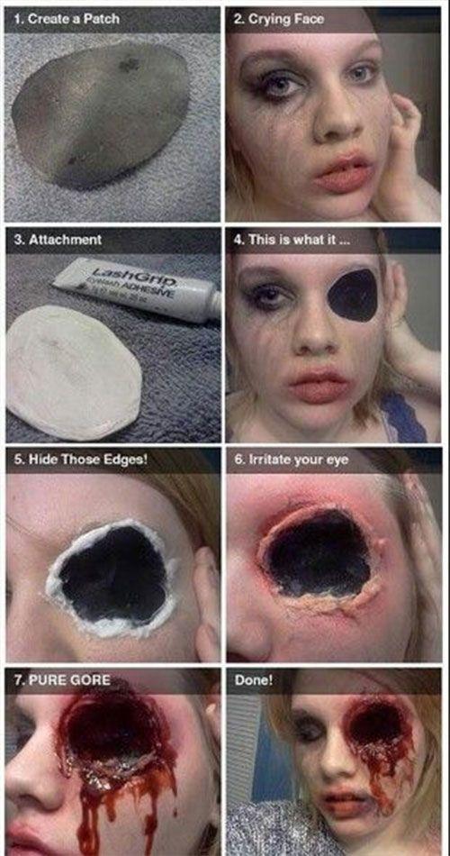 14 disgusting diy halloween makeup tutorials ideas thatll scare the crap ou