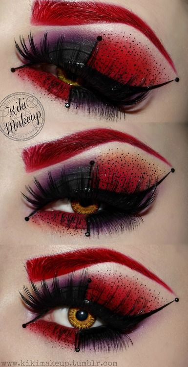 35 Disgusting and Scary Halloween Makeup Ideas / Queen of Hearts Make Up