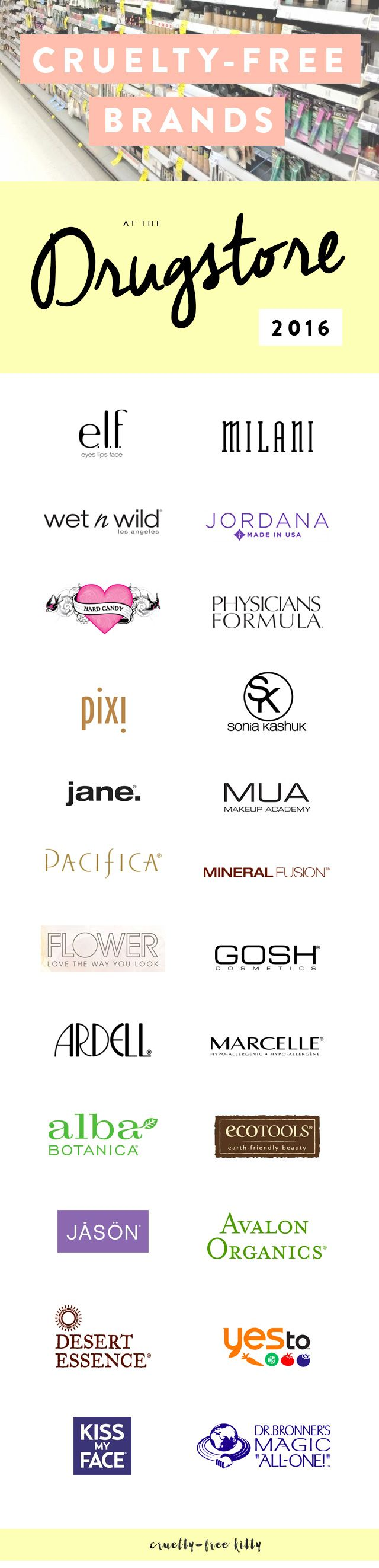 A ton of affordable cruelty-free brands! #crueltyfree