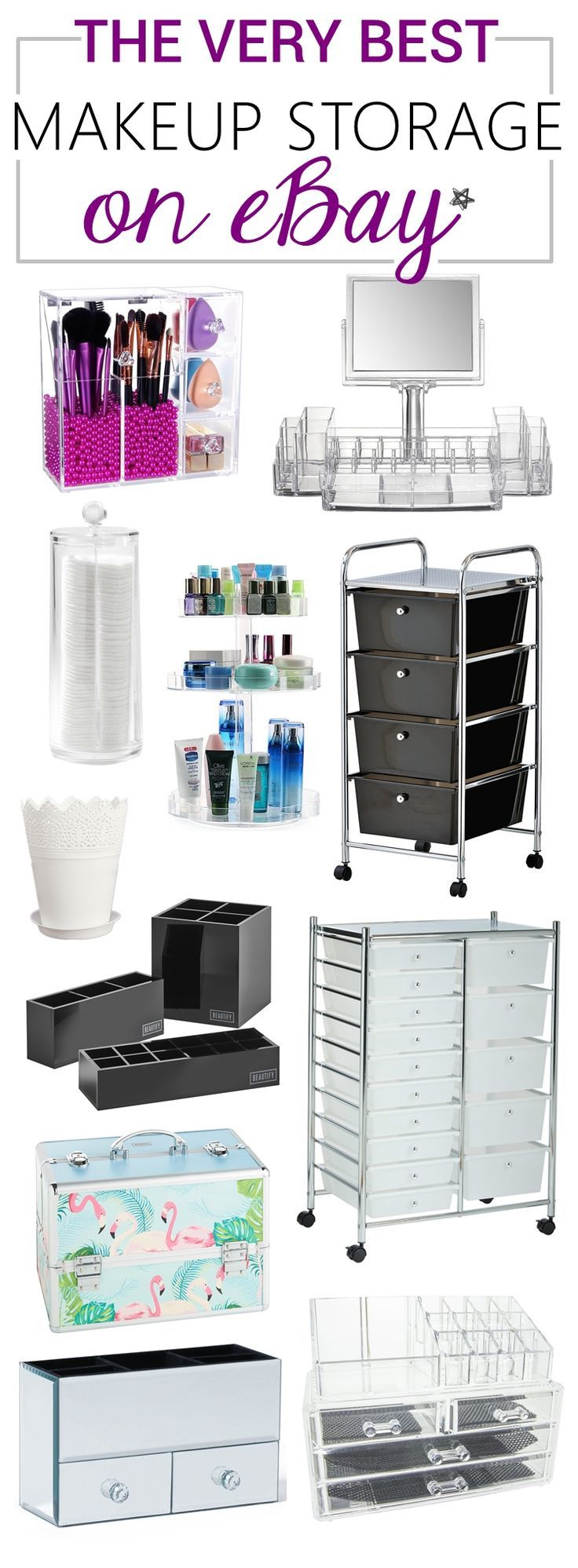 All the makeup storage solutions you could possibly want to find on eBay, all in...