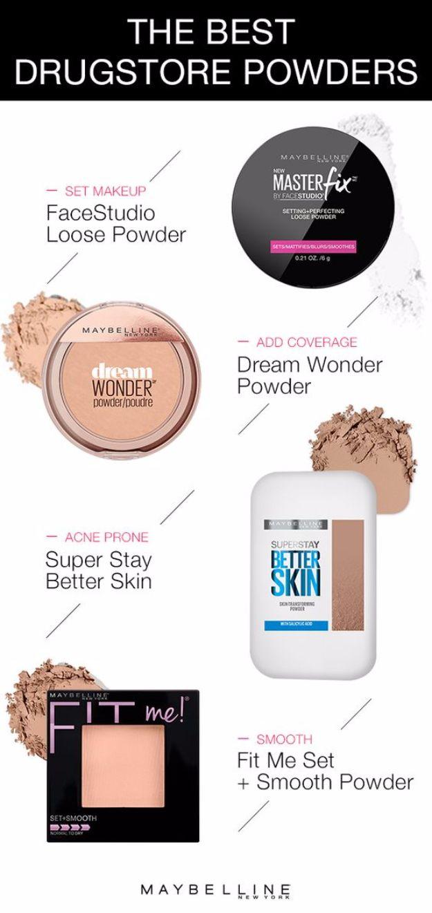 Best Drugstore Makeup Dupes- The Best Drugstore Powder - Simple DIY Tutorials Th...