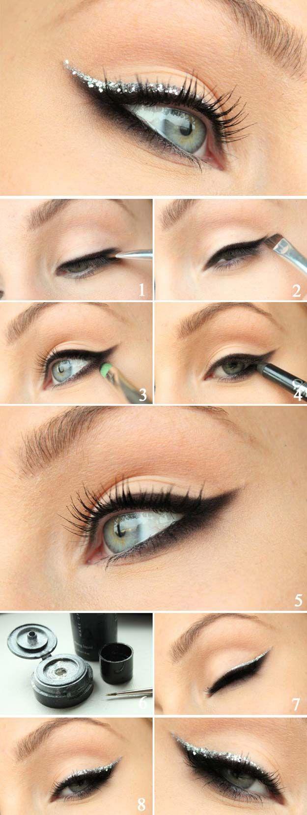Best Makeup Tutorials for Teens -Holiday Glitter - Easy Makeup Ideas for Beginne...