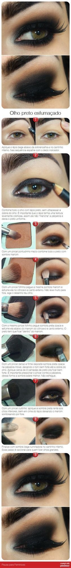 Dark Smokey Eye Makeup Tutorial Pictures, Photos, and Images for Facebook, Tumbl...