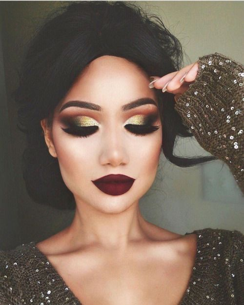 Golden | Awesome Prom Makeup Ideas Full Face | DIY New Years Eve Makeup Looks Ey...