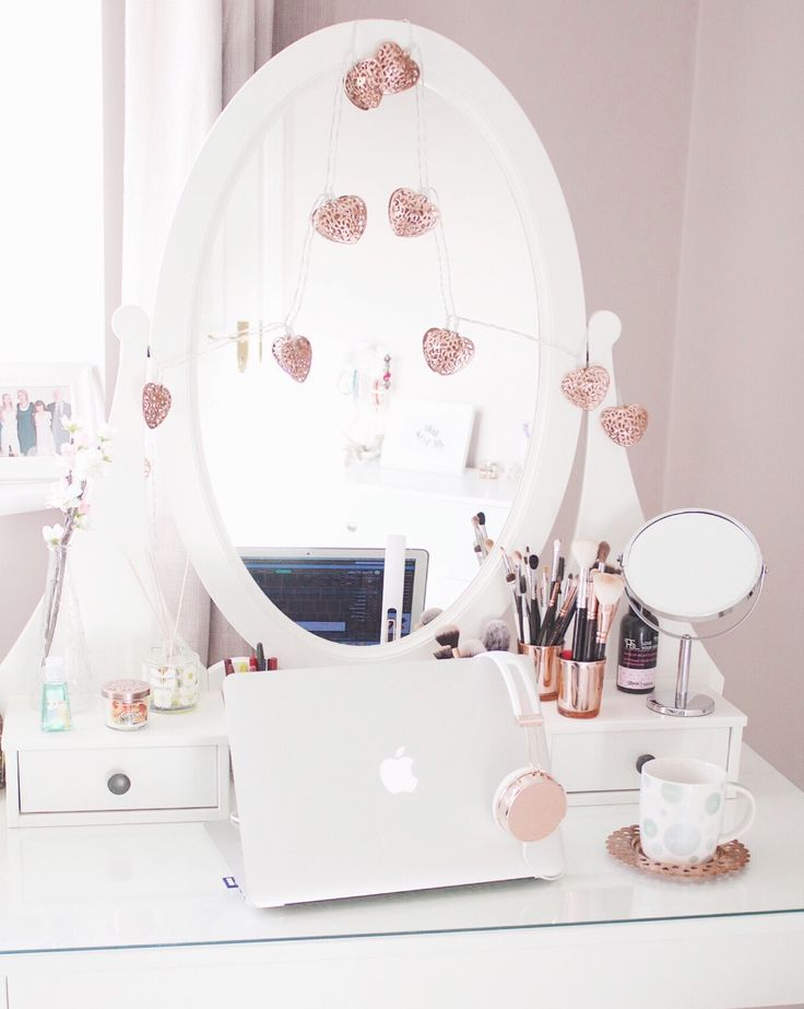 How to style the Ikea Hemnes Dressing Table  #vanitytable #interiors #copper